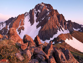 """Photo: Sunset light shines on <a href=""""search.php?q=mt.%20sneffels"""">Mt. Sneffels</a> - June."""
