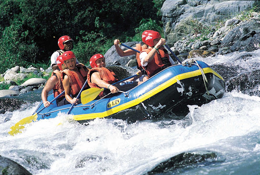 Dominican-Republic-white-water - Whitewater rafting on the Yaque del Norte River in the Dominican Republic.