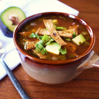 Chicken Soup with Tortillas