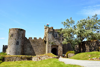 Photo: manorbier castle