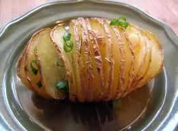 Accordion Potatoes With Garlic Recipe