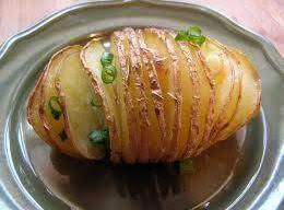 Accordion Potatoes With Garlic Recipe
