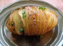 Accordion Potatoes With Garlic