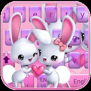 Cute bunny Keyboard Theme rabbit love