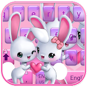 Cute bunny Keyboard Theme rabbit love