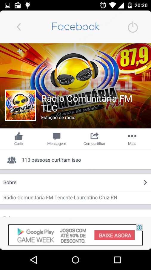 Rádio TLC FM - 87,9- screenshot