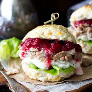 """""""Stuffing """" Biscuit Turkey & Cranberry Sandwich"""