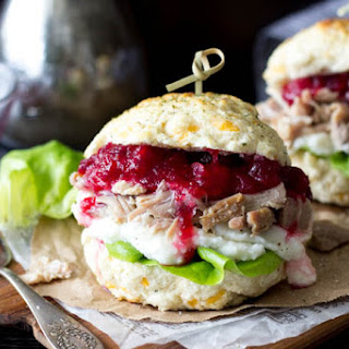 """""""Stuffing """" Biscuit Turkey & Cranberry Sandwich."""