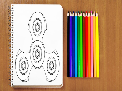 Fidget Spinner Coloring Book Pages Apps Apk Free Download For Android PC