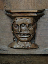 Photo: Really creepy dual face carving.