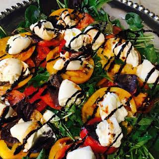 5-Minute Beautiful Caprese and Arugula Salad.