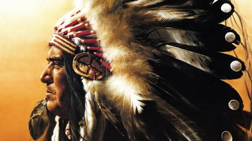American Indians. Wallpaper