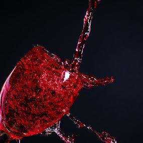 Wineglass Splash by Rene Timbang - Artistic Objects Glass ( #wineglass #splash #artwork #stilllife #mycapture #canonphotography )
