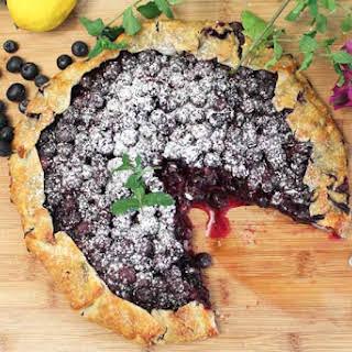Easy Rustic Blueberry Galette A Summer Dessert.