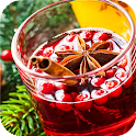 Winter drink. Mulled wine icon