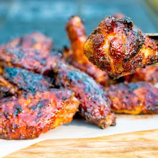 BBQ Sriracha Glazed Wings.
