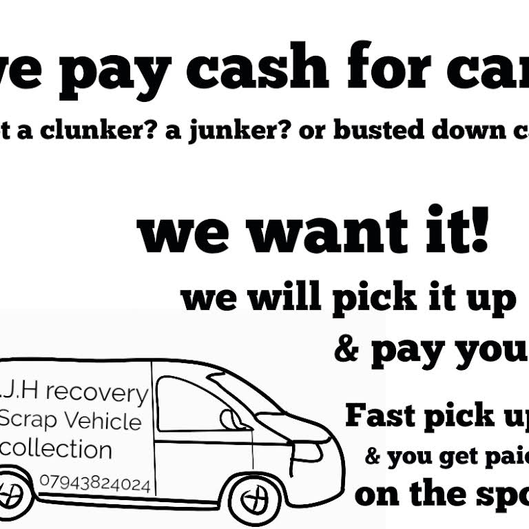 AJH Recovery & Scrap Vehicle Collection - Scrap Your Car For