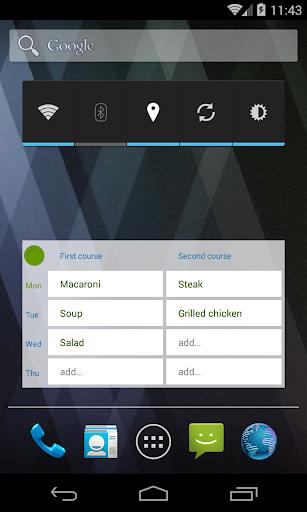 Easy Menu Planner screenshot