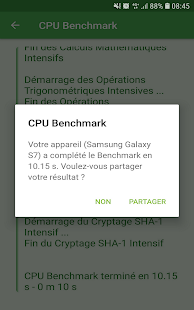 CPU Benchmark Capture d'écran