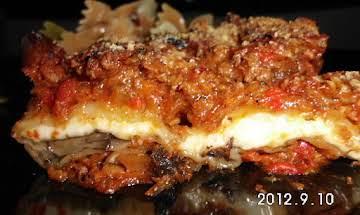 Portabello wraps smothered in Ragu Sauce