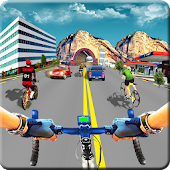In Bicycle Racing on Highway - Bike Rider Game