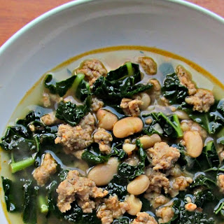 Italian Sausage, Kale and White Bean Soup