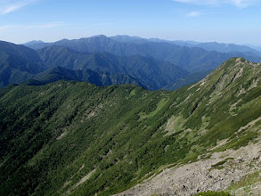 Photo: 塩見岳以南