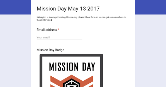 Mission Day May 13 2017