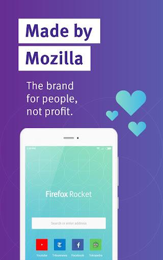 Firefox Rocket - Fast and Lightweight Web Browser screenshot 1