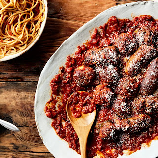 Sunday Sauce With Braciole, Meatballs, and Sausage