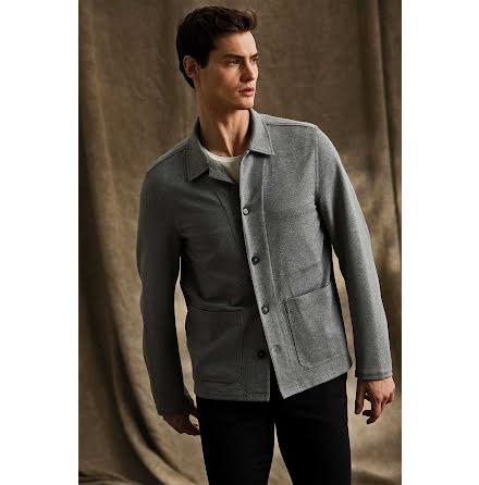 Oscar Jacobson Hampus skjortjacka mörk grå