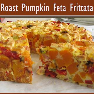 Roast Pumpkin Feta Frittata Recipe