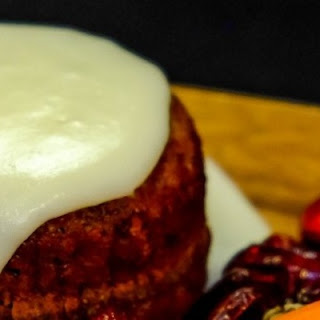 Warm Carrot Cake with Cream Cheese Icing