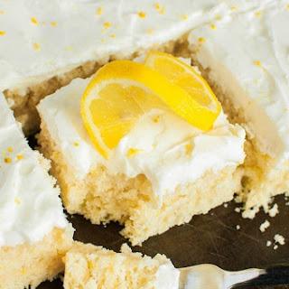 Lemon Sheet Cake from Scratch.