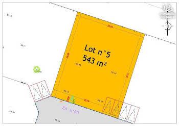 Terrain 543 m2