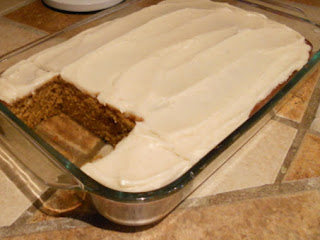 Pumpkin Spice Cake W/cream Cheese Icing Recipe