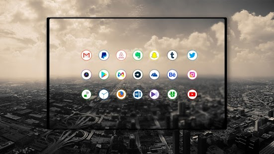 Aura light - Icon Pack Screenshot