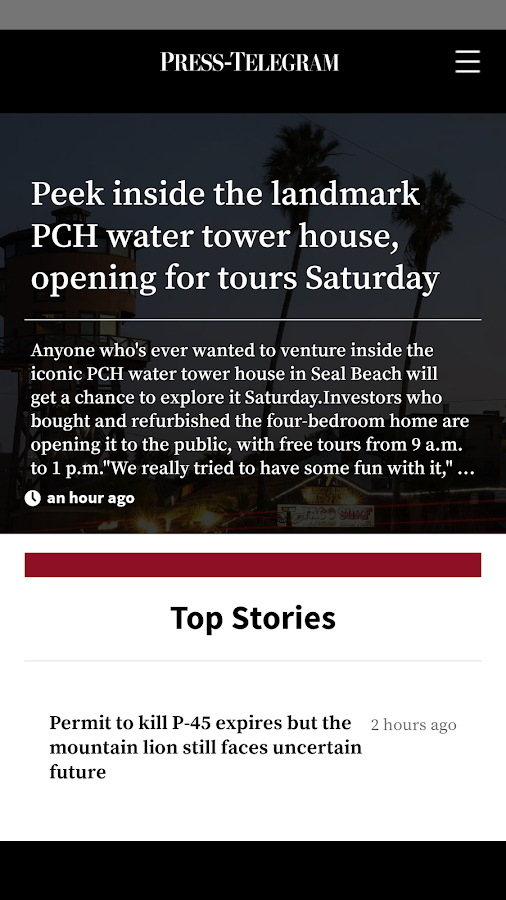 Long Beach Press-Telegram- screenshot