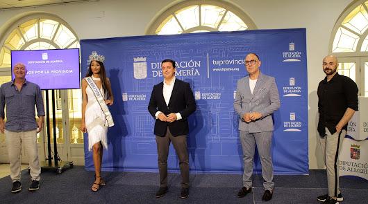 El presidente de la Diputación recibe a la almeriense Miss World Spain