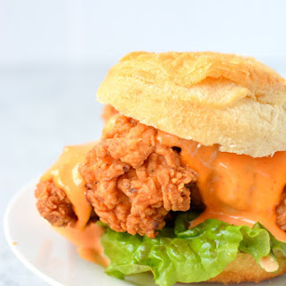 Sriracha Lime Fried Chicken Sandwiches.