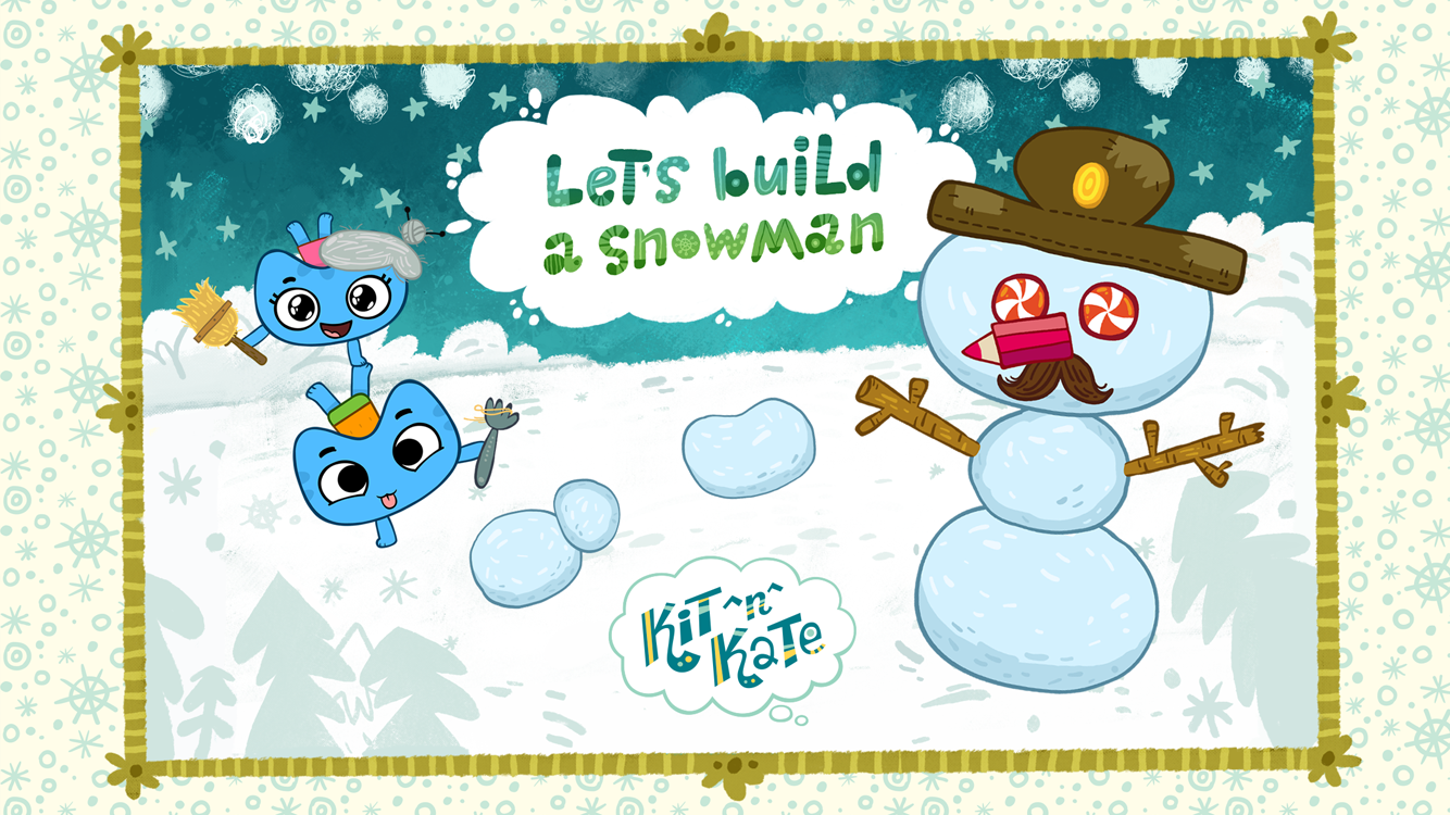 Kit^n^Kate Let's Build Snowman- screenshot