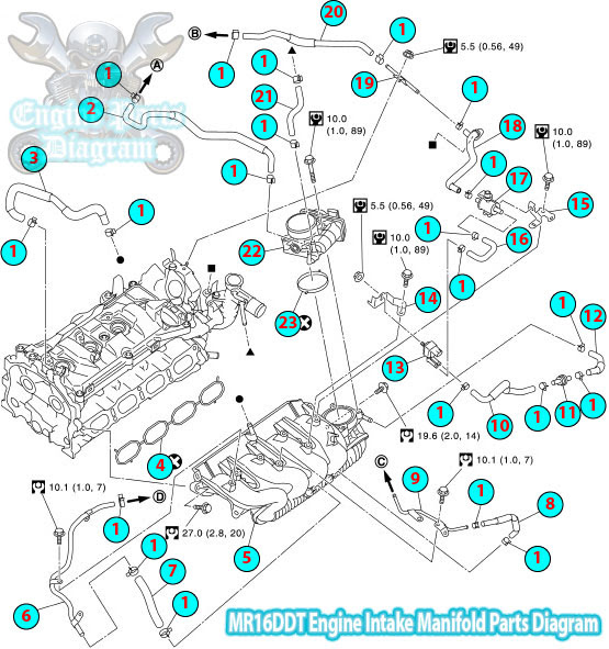 Designed For Driving Pleasure >> 2014 Nissan Juke Intake Manifold Diagram (MR16DDT engine)