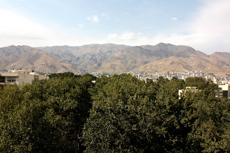 Photo: Day 134 -  View From Ghodrat's Balcony (Mountains North of Tehran)