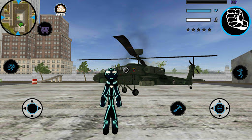 Neon Iron Stickman Rope Hero City Gangstar Mafia screenshot 6