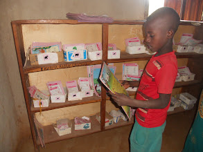 Photo: It is the child's responsibility to get the right card for his level and begin his daily work.