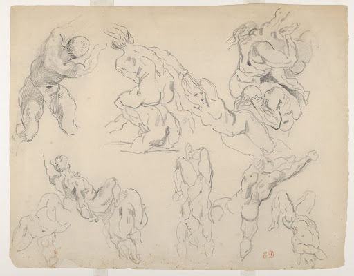 "Figure Studies after Ruben's ""Fall of the Rebel Angels"""