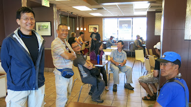 Photo: After being late for hours, we reunioned with our group at McDonald before entering Olympic National Park