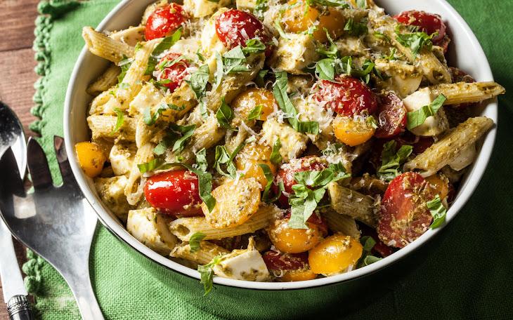 Classic Pesto Pasta Salad Recipe