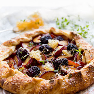Blackberry + Plum Cornmeal Galette