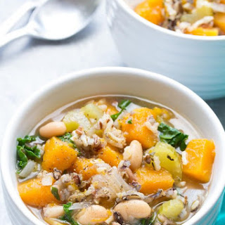 Slow Cooker Wild Rice Vegetable Soup.